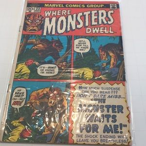 Where Monsters Dwell #23 vintage marvel comic book